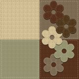 Four seamless leather backgrounds Royalty Free Stock Photo