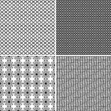 Four Seamless Ornamental Greed Patterns Royalty Free Stock Image