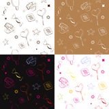Four seamless pattern. With candies Royalty Free Stock Photography