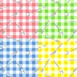 Four seamless pattern with cutlery Royalty Free Stock Images