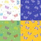 Four of seamless pattern Stock Photo