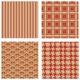 Four seamless patterns Royalty Free Stock Photo