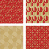 Four seamless patterns Royalty Free Stock Photography