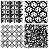 Four seamless patterns Royalty Free Stock Image