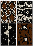 Four seamless patterns Stock Photography