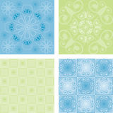 Four seamless patterns vector illustration
