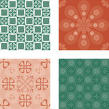 Four seamless patterns Stock Images
