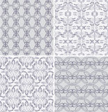 Four seamless patterns. Royalty Free Stock Image