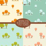 Four seamless patterns Stock Photos