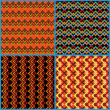 Four seamless patterns on ethnic motifs Royalty Free Stock Photography
