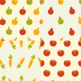 Four seamless patterns Stock Image