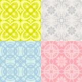 Four seamless patterns Royalty Free Stock Photos