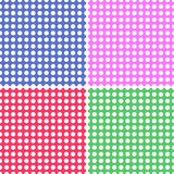 Four Seamless Polka Dot Backgrounds Stock Photography