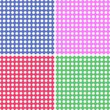 Four Seamless Polka Dot Backgrounds royalty free illustration
