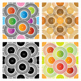 Four seamless record backgrounds vector illustration