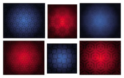 Four  seamless repeat patterns Stock Photos