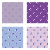 Four seamless wallpaper pattern Royalty Free Stock Photo