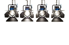 Four  searchlights. Royalty Free Stock Photo