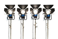 Four  searchlights. Royalty Free Stock Photography