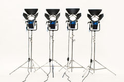 Four  searchlights. Four  searchlights on a white background Stock Images