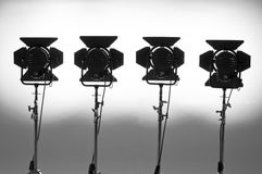Four  searchlights. Four  searchlights on a white background Royalty Free Stock Image