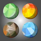 Four season abstract polygon rounds Royalty Free Stock Photography