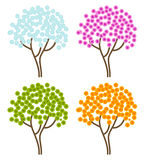 Four season abstract trees Stock Photo