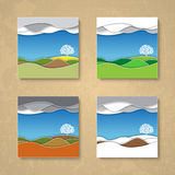 Four season background cards Royalty Free Stock Photos
