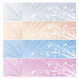 Four season banner background. A vector illustration of natural coloured Four season banner – all elements isolated –  easily editable Royalty Free Stock Photos