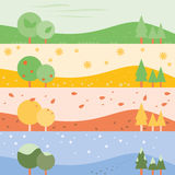 Four Season banner background Royalty Free Stock Photo