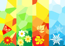 Four season banners. For your design vector illustration