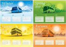 Four-season calendar 2010. Vector four-season calendar for 2010 year Stock Images