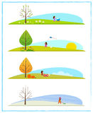 Four Season Clip art Royalty Free Stock Image
