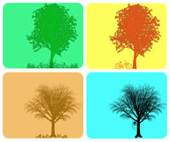 Four season colorful background Stock Images