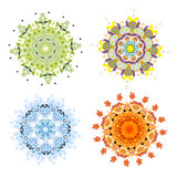 Four season concept. Arabesque set for your design Stock Images