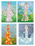 Four season girls Royalty Free Stock Photography