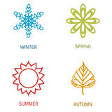 Four season illustration Royalty Free Stock Images