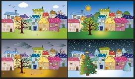 Four season stock illustration