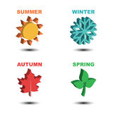 Four season isometric Stock Image