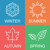 Four season logo Stock Photos