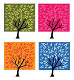 Four season trees Royalty Free Stock Photography