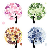 Four season trees Stock Photos