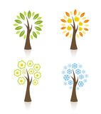 Four season trees Royalty Free Stock Photos
