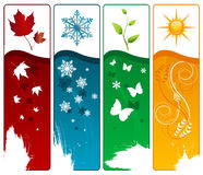 Four season vector stock illustration