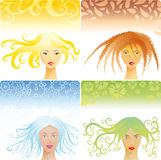 Four season womans Stock Photo