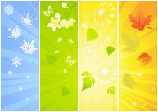 Four seasonal backgrounds Stock Photos