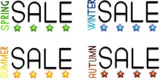 Four seasonal sale Stock Photography
