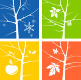 Four Seasons. Illustration summer, autumn, winter, spring Stock Images