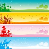 Four seasons. Royalty Free Stock Photography