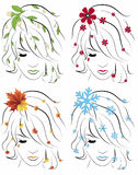 The four seasons. Illustration background Royalty Free Stock Images